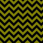 Olive Muddy Green Black Color Chevron Zig Zag Pattern