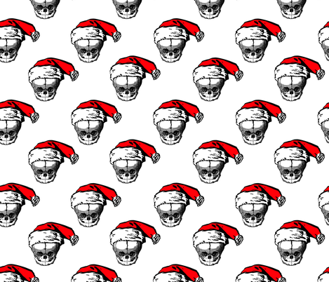 christmas skulls 3 fabric by b0rwear on Spoonflower - custom fabric