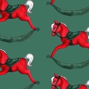 Classic Rocking Horse (Green)