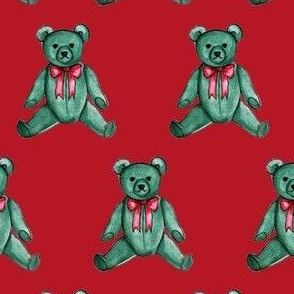 Classic Teddy Bear (Red)