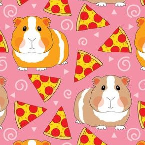 guinea-pigs-with-pizza-on-pink
