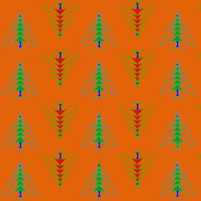 Contemporary Christmas Trees Orange