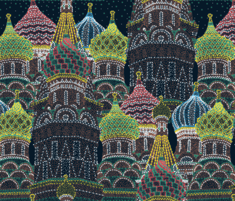 Moscow in Holiday Lights  fabric by elliottdesignfactory on Spoonflower - custom fabric