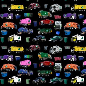 Garbage Truck Collage Small