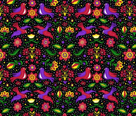 Folk art Christmas colors 10x10 fabric by leroyj on Spoonflower - custom fabric