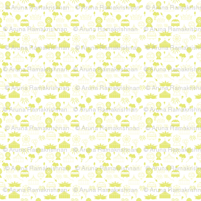 Carnival Monochrome Pattern