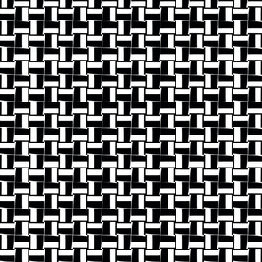 Black and white infinity basket weave