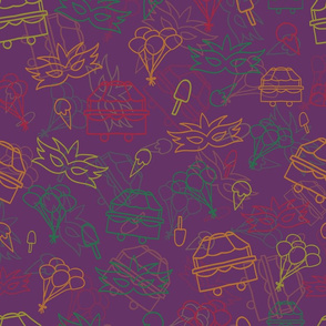 Violet Carnival Pattern