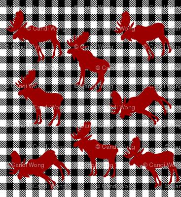 Mini Moose Plaid