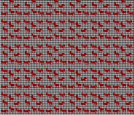Mini Moose Plaid fabric by designsbywildside on Spoonflower - custom fabric