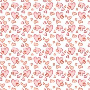 watercolor hearts