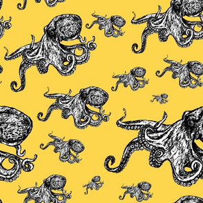 Octopus Pattern - Yellow