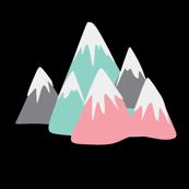 Mini Pastels Mountain Fabric