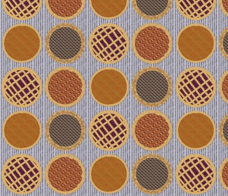 Photo Pie Dot on Cloudy Stripes fabric by lochnestfarm on Spoonflower - custom fabric