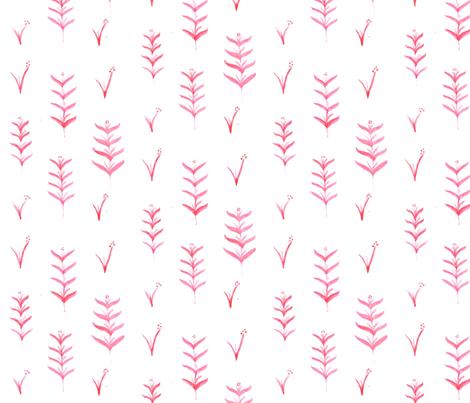 Pink tea towel fabric by meggieland on Spoonflower - custom fabric
