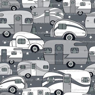 Cozy Campers Black/White/Gray (Small)