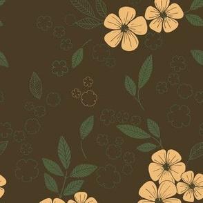Flower field khaki