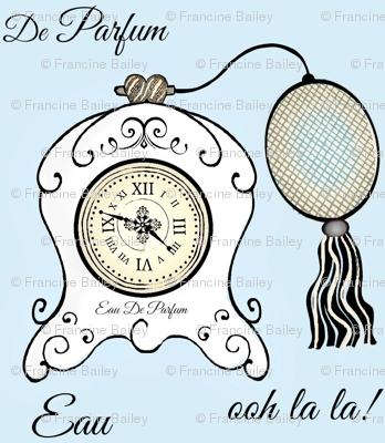 Très Féminin / Vintage Clock lgt. blue