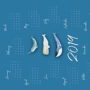 Whale Squad Calendar 2019 ENG