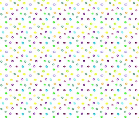 Watercolor brush stroke confetti || polka dots pattern fabric by katerinaizotova on Spoonflower - custom fabric