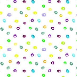 Watercolor brush stroke confetti || polka dots pattern