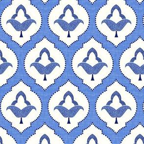 moroccan trellis blue