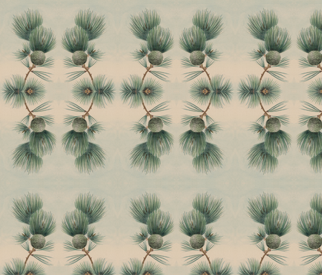 Pine Garland fabric by river_studio on Spoonflower - custom fabric
