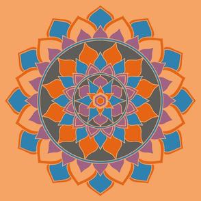 Manndala orange blue