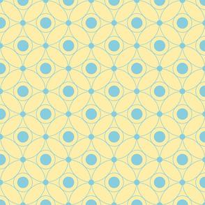 blue circles on yellow