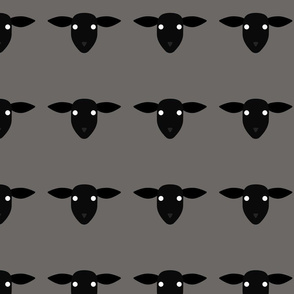 Sheep Pattern Warm Grey 2