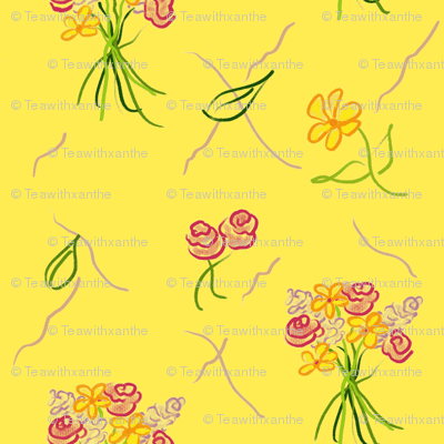 Dancing Bouquets__Bright! Yellow