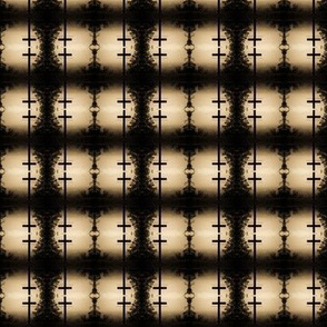 Brown and Black Cross Checker