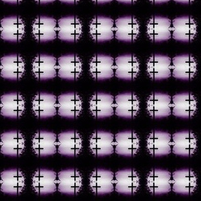 Purple and Black Cross Checker
