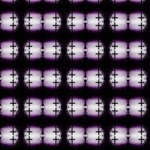 Purple and Black Cross Checker