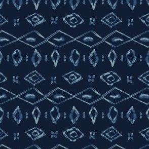 Indigo Tie Dye Batik Organic Blue Bandana