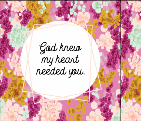 6 loveys: god knew my heart needed you // champagne fizz on 75-13 fabric by ivieclothco on Spoonflower - custom fabric