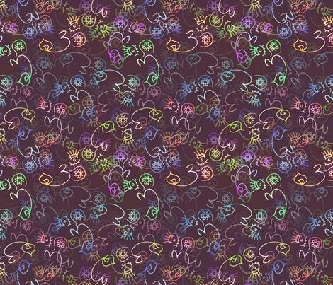 Diwali - Ohm / Om / Aum fabric by lierre on Spoonflower - custom fabric