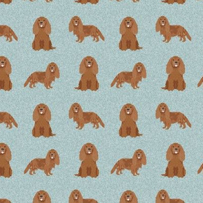 SMALL - cavalier king charles spaniel fabric, dog fabric, ruby cavalier fabric, dog breeds fabric, dog breed fabric - pet quilt b coordinate
