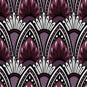 Cascading Mandala - Purple