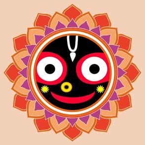 Smiling mandala Jagannatha
