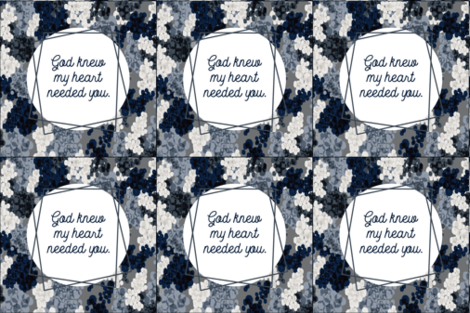 6 loveys: god knew my heart needed you // navy champagne fizz on charcoal fabric by ivieclothco on Spoonflower - custom fabric