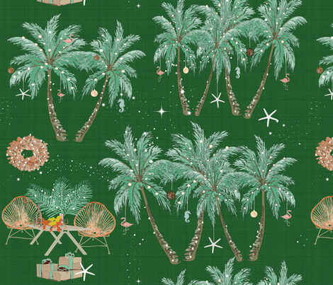 Christmas Eve in the Tropics fabric by babyancestree on Spoonflower - custom fabric