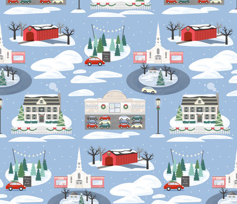 Christmas in New Hampshire fabric by nikijin on Spoonflower - custom fabric