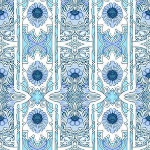 Blooming Blue Stripe