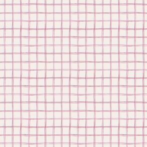 Simple watercolour tartan on off white