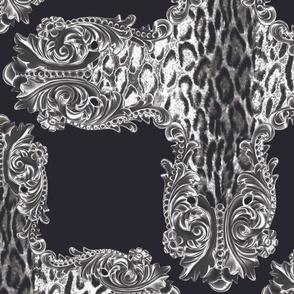 Baroque Leopard Crosses Black and White