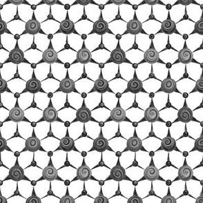 Dunkelgrün - hexagonal crystal - greyscale