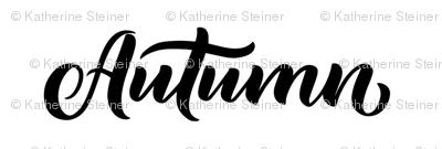 Autumn Name Fabric