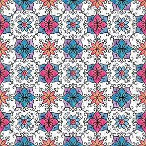 Tiled watercolor flowers