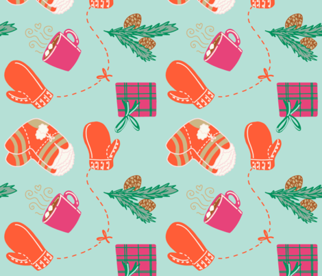 Cozy Winter fabric by leasebease on Spoonflower - custom fabric